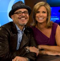 Joey Pantoliano and Lynn Doyle on the set of It's Your Call
