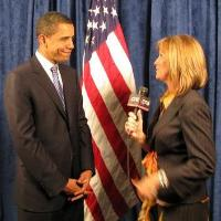 Lynn Doyle Interviewing President Barack Obama