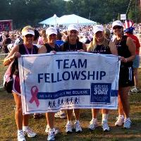 Lynn with her Breast Cancer 3-Day team, Team Fellowship